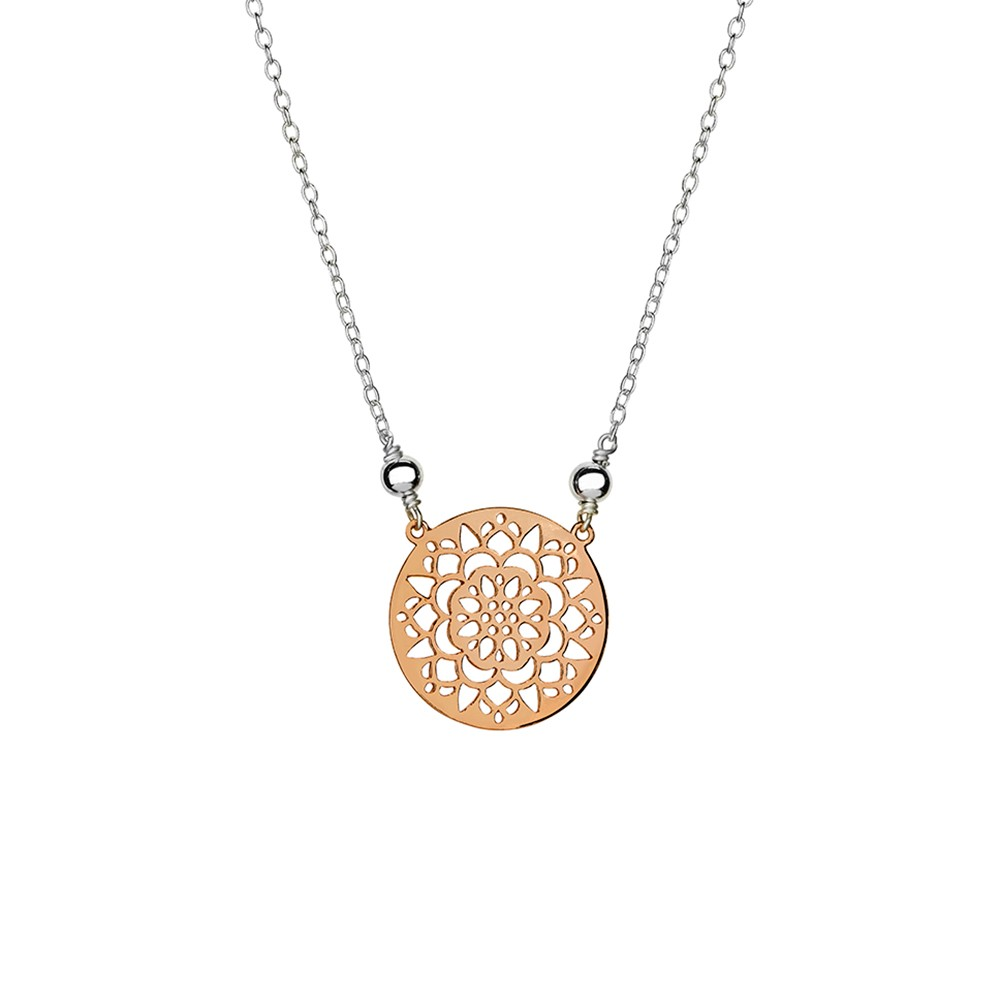 the circle mandala dogeared center dipped balance necklace gold