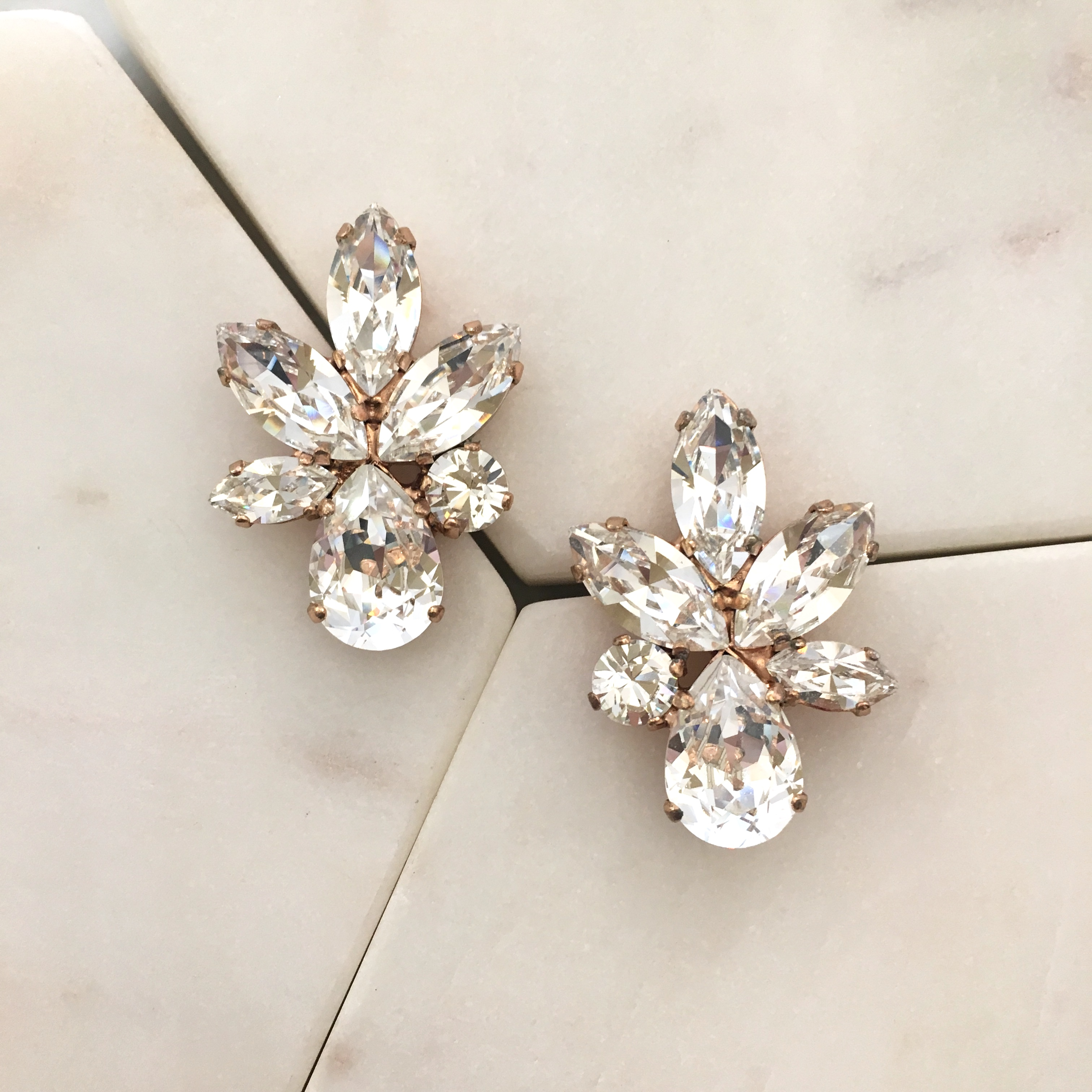 a0fbba5b5559 Earrings    Crystal    Elina Cluster Studs- Crystal Rose Gold