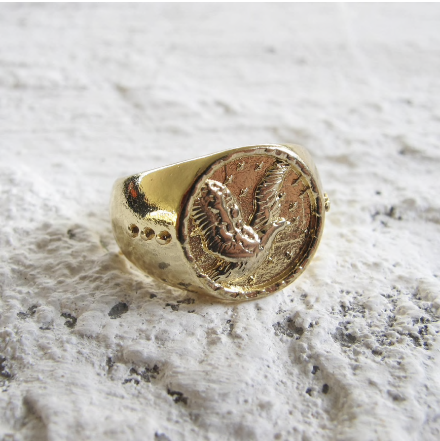 Eagle Ring - Size M/L - Gold